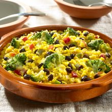 Tonight, a delicious, nutritious family dinner is only 30 minutes away when you make Garden Vegetable Rice with Black Beans! This speedy one-skillet meal starts with GOYA® Yellow Rice combined with a vibrant mix of veggies and hearty GOYA® Black Beans. Mix with cheddar cheese for a creamy rice and vegetable recipe that will make the whole family cheer!