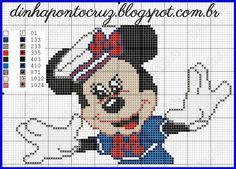 Oi gente! Atendendo a pedidos hoje trouxe a Minnie na versão marinheira para vocês: a versão Mickey para quem não viu se encontr...