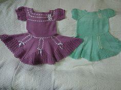 Fiz o vestido Lilás ... pelo modelo do vestido verde