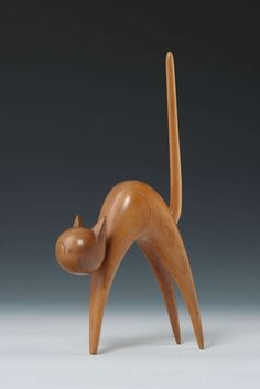 Franz Hagenauer/Karl Hagenauer Attributed for Werkstätte Hagenauer - 1950s/1960s | From a unique collection of antique and modern animal sculptures at https://www.1stdibs.com/furniture/more-furniture-collectibles/animal-sculptures/