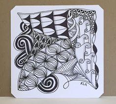 Baby Girl Ducky Card and a Zentangle Tile