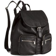 H&M Backpack (165 MYR) ❤ liked on Polyvore featuring bags, backpacks, backpack, black, knapsack, daypacks, chanel flap bag and black knapsack