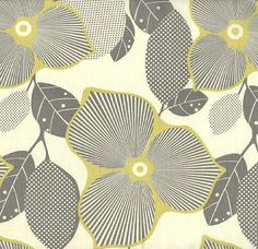 Amy Butler Fabric Shower Curtain, Grey Yellow Fabric Shower Curtain, Modern Floral Shower Curtain, Floral Bathroom Decor, Modern Bathroom by asmushomeinteriors on Etsy https://www.etsy.com/listing/228933931/amy-butler-fabric-shower-curtain-grey