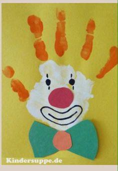 Projekt Karneval und Karneval Kindergarten und Tagespflege Ideen - for children over 3 years - Kunst Circus Crafts Preschool, Circus Activities, Clown Crafts, Carnival Crafts, Daycare Crafts, Preschool Activities, Daycare Ideas, Circus Theme Crafts, Circus Theme Classroom