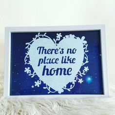 """Papercutting white frame """"There's no place like home"""" Follow us on    Facebook : Cj.paperart Instagram : cj.paperart"""