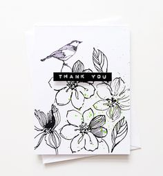 Monochromatic card by Agnieszka
