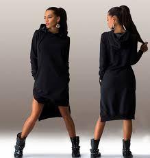 Znalezione obrazy dla zapytania asymetryczna sukienka dresowa