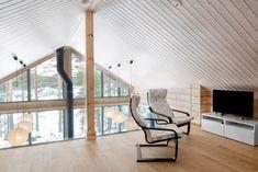 Modern Log Villa in Central Finland by Pluspuu Oy Architect