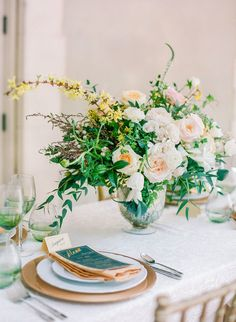 Lush, unstructured centerpieces: http://www.stylemepretty.com/2015/01/01/top-wedding-trends-of-2014/