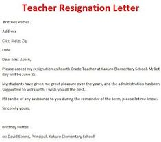Teacher resignation letter template pinterest resignation teacher resignation letter sample format pictures https3sixtycyclingstudioprofessional thecheapjerseys Choice Image