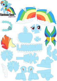 mlp papercrafts | PaperCraft Rainbow Dash Royal Wedding by ~ oskarek11