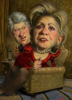 Los Clinton por Thomas Fluharty