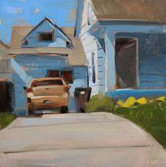 """""""Blue Shadows"""" - Original Fine Art for Sale - © Carol Marine"""