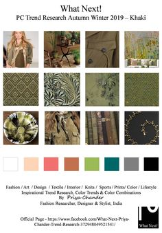 #Fashion #khaki #khakicolor #fashionprints #fashionista #AW19 #autumnwinter2019 #NYFW #LFW #PFW #MFW #fashionweek #fashionforecast #fashiontrends #menswear #womenswear #kidswear #fashioninfluencer #moodboard #fashiondesigner #fashionresearch #WGSN #texture #fashionfabrics #foodnetwork #fashionprints #pantone #ADcampaign #interiors #fashiontrends #colorforecast #Autumnwinter