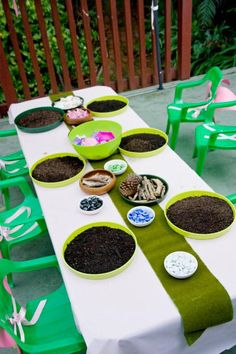 Pandora Jewelry OFF!> After the food the girls settled back down to make fairy gardens using twigs stones shells and other nature items. Fairy Birthday Party, Garden Birthday, 6th Birthday Parties, Birthday Ideas, 7th Birthday, Enchanted Forest Party, Enchanted Garden, Fairy Tea Parties, Party Fiesta