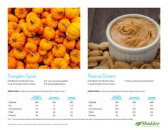Healthy Smoothies: Pumpkin Spice & Peanut Dream -  Find the Energizing Life Plan Shakes here: https://tobehealthy.myshaklee.com/us/en/shop/healthyfoundations/protein/product-_p_shaklee-life-energizing-shakep