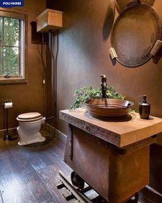 Ako sa vám páči táto kúpelňa? Spomedzi hnedých odtieňov si zvoľte Poli-Farbe Platinum B40, CS50, SZ50, B30, N90 či M60. Prípadne spomedzi odtieňov Matt Latex si môžete vybrať jemnejšie farby akými sú napr. D50 či D40. #polifarbesk  #malovanie #malovaniestien #maliar #diy #farba #farby #farebneinspiracie #izba #izby #stena #steny #byvanie #krasnebyvanie #peknebyvanie #domov #renovacia #rekonstrukcia #detskaizba #home #design #decore #wallpainting #room #living #homedecore #painter #painting Vanity, Mirror, Bathroom, Furniture, Home Decor, Vanity Area, Bath Room, Homemade Home Decor, Lowboy