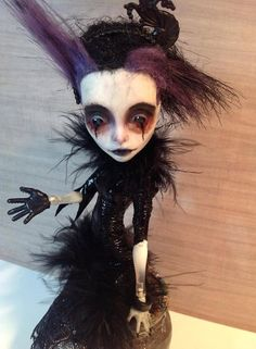 OOAK Gothic Monster High Art Doll Spectra by Refabrications, $60.00