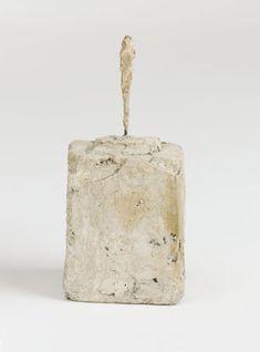 Alberto Giacometti. Figure, II c. 1945 Plaster and metal (9.5 cm) high including plaster base (5.6 x 4.3 x 4.2 cm)