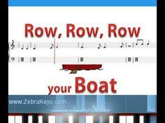 """Learn """"Row, Row, Row Your Boat"""" http://www.zebrakeys.com/blog/2013/04/row-row-row-your-boat/"""