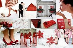 11 Winter Wedding Colors to Inspire | Red and White | Venuelust