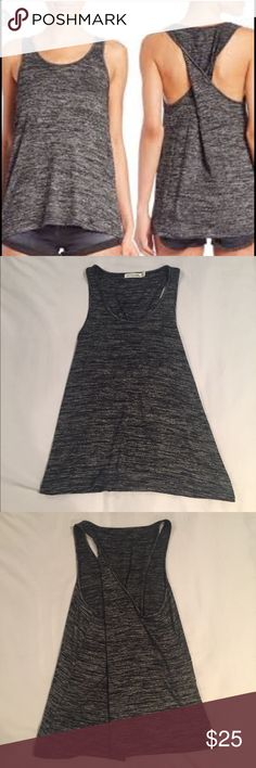 Rag & Bone Twist Back Tank Top Perfect for summer. Dark grey and black heathered tank top. Twist back. Size small. Excellent condition. Never been worn. Rayon/polyester blend. Size small. Sorry no trades. rag & bone Tops Tank Tops