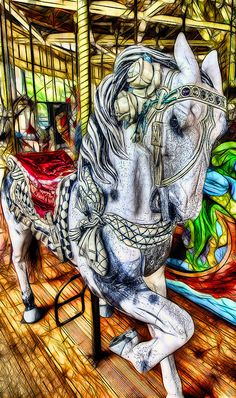 Golden Gate Park's Carousel in San Francisco. I hope it's rideable--looks like one of the best carousels ever! Carosel Horse, Wooden Horse, San Francisco, Painted Pony, Merry Go Round, Barbie, Horse Art, Amusement Park, Beautiful Horses