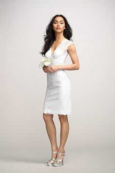 Encore Dress Iris. Great for bridal shower or rehersal dinner. also available in other colors. Lining can be changed and overlay can stay white!
