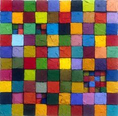 EncausticFIBERopolis: Encaustic with a Textile Sensibility Textures Patterns, Color Patterns, Color Studies, Palette, Color Of Life, Color Theory, Colour Schemes, Beautiful Paintings, Rainbow Colors