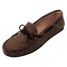 Minnetonka Mens Classic Moccasin Dusty Brown, Men's, Size: 11.5 Moccasin - 913-DUSTY BROWN-11.5