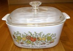 Vintage Corning Ware SPICE O LIFE 3 Quart Covered Casserole w/Lid > More discounts at the link of image : Bakeware
