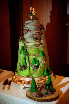 This couple got engaged ontop of a 14er in #Colorado - and asked that their #wedding #cake reflect that moment! There are no limits @Four Seasons Resort Vail