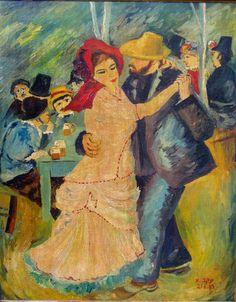Dance at Bougival Auguste Renoir oil painting by bonyshop2016