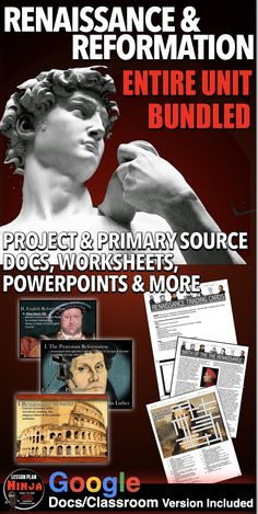 History Lesson Plans, World History Lessons, Teaching Social Studies, Teaching History, Renaissance And Reformation, Source Documents, Daily Lesson Plan, Exit Tickets, The Unit