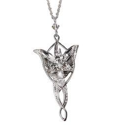 LOTR Arwen Evenstar Pendant In Sterling Silver -