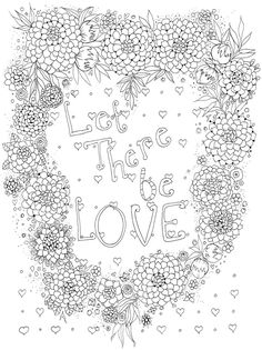 Creative Haven Let There Be Love Coloring Book Dover Publications