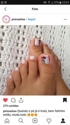 Pedicures, Manicure And Pedicure, Nail Art, Tutorial Nails, Toenails, Sour Cream, Designed Nails, Enamel, Up Dos
