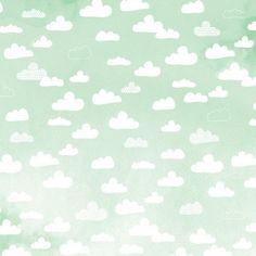 Dear Lizzy watercolor cloud illustration/scrapbook paper