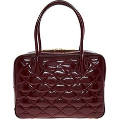 Purple Patent Quilted Bag