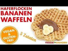 Haferflocken-Bananen-Waffeln | Vegan & Glutenfrei | Nur 3 Zutaten