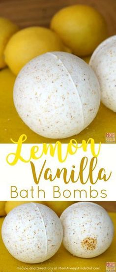 Lemon Vanilla Bath Bombs Recipe and Directions by Fresh citrus combines with warm vanilla for a comforting and uplifting fizzy bath experience. This DIY bath bomb recipe will make 3 bath bombs using clear plastic ornament molds. Diy Spa, Bath Fizzies, Bath Salts, Homemade Beauty, Homemade Gifts, Shower Bombs, Bombe Recipe, Homemade Bath Bombs, Bath Bomb Recipes