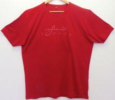 Men's red bamboo logo shirt
