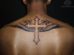 angel cross tattoo designs - Google Search