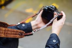 ONA | The ONA Leather Presidio Camera Strap in Antique Cognac
