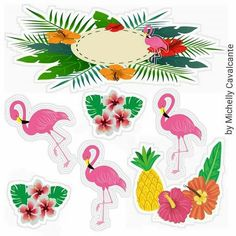 Flamingo Party, Flamingo Craft, Flamingo Gifts, Flamingo Birthday, Diy Cake Topper, Diy And Crafts, Paper Crafts, Tiki Party, Tropical Party