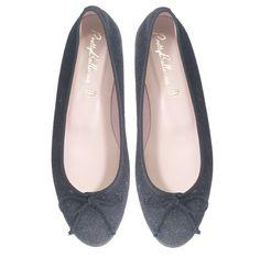 Black soft suede with glittery bits // Pretty Ballerinas
