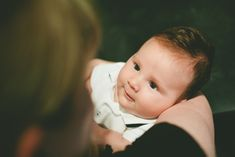 Baby looking into mother's eyes, by Paul Krol