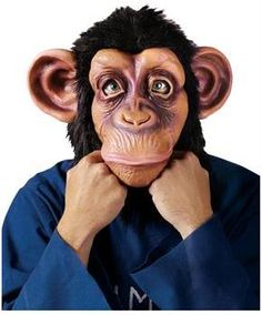 Googly Eye Monkey Mask Scary Animal Horror Chimp Halloween Fancy Dress