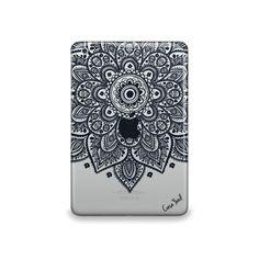 Lara Mandala Clear case,iPad Air case, iPad Mini case, iPad Mini 2 case, iPad 3 case, iPad clear case, custom iPad case, iPad TPU,