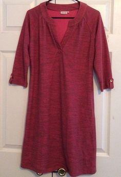 Ellie Kai Dress, Size XL, Fuchsia Knit, 50% Cotton, 50% Polyester, NWOT #EllieKai #Dress #Casual
